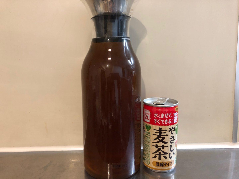 サントリー グリーンダカラ やさしい麦茶 濃縮タイプを作って飲んでみた感想