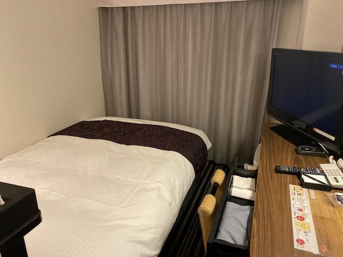 アパホテル潮見で予約した部屋の様子