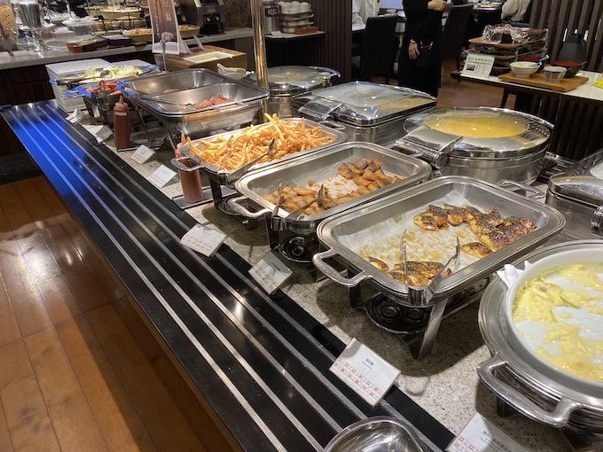アパホテル潮見の朝食の様子