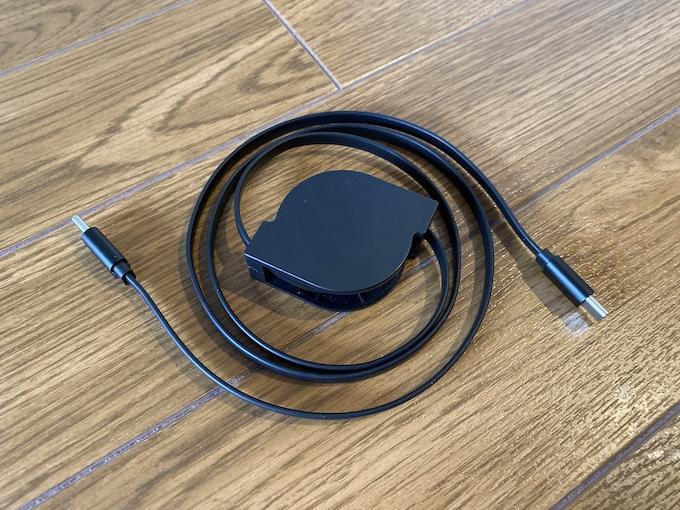 Amazonで購入したUSB-Cの巻き取り式ケーブルの外観と特徴